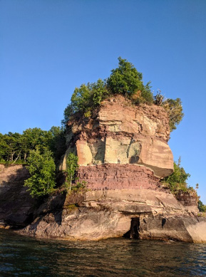 grand island rock formation